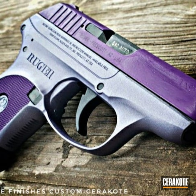 Cerakoted: S.H.O.T,LCP,Pocket Pistol,Ruger,Two Tone,LOLLYPOP PURPLE C-163,Pistol,.380 ACP,CRUSHED ORCHID H-314,EDC