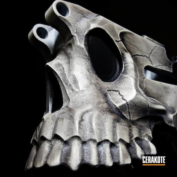 Cerakoted Sharps Brothers Skull Ar Lower In H-242 And H-146