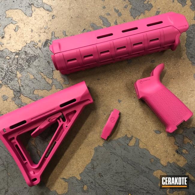Cerakoted: S.H.O.T,MagPul,Rail,Handguard,Magpul Furniture,SIG™ PINK H-224,Grips,Stock