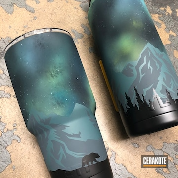 Cerakoted Matching Water Bottle And Tumbler