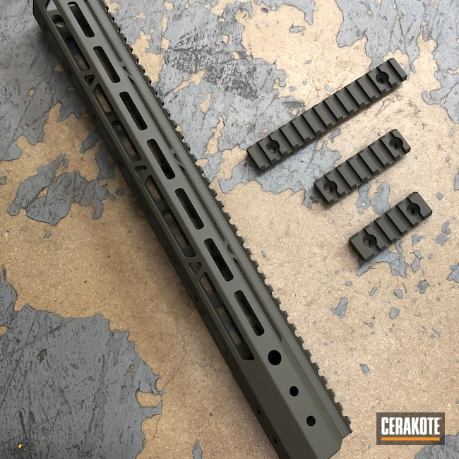Cerakoted: S.H.O.T,Rail,Handguard,Mil Spec Green H-264