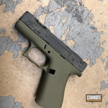 Cerakoted Glock 43x Multicam In H-229, H-146 And H-210