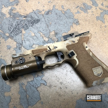 Cerakoted Stippled Multicam Glock Frame