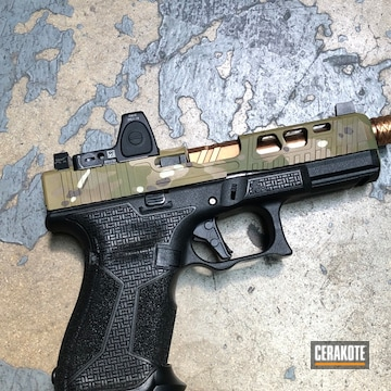 Cerakoted Custom Glock 19 Multicam
