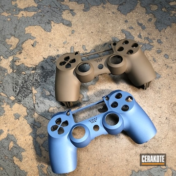 Cerakoted Refinished Ps4 Game Controllers In H-267 And H-326