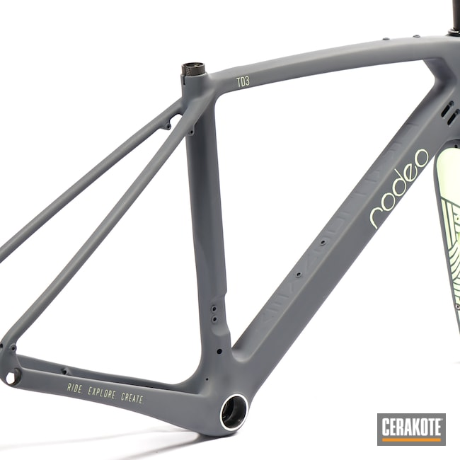 Cerakoted: Bicycle Fork,CITRON H-324,Sports,Bicycle,More Than Guns,Sports and Fitness,COBALT KINETICS™ SLATE H-295,Bicycles
