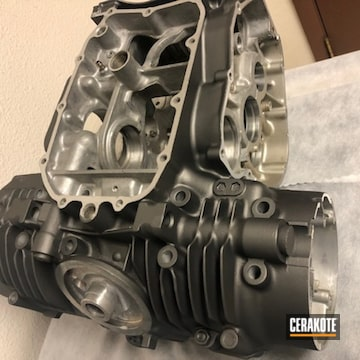 Cerakoted Motorcycle Engine Finishing In C-7900
