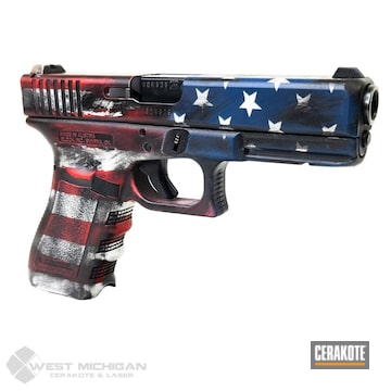 Cerakoted American Flag Glock In H-242, H-167, H-190 And H-401