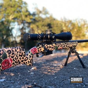 Cerakoted Leopard Print Bolt Action Rifle
