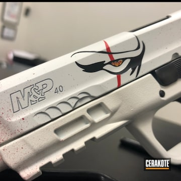 Cerakoted Pennywise Themed Movie Prop S&w Handgun