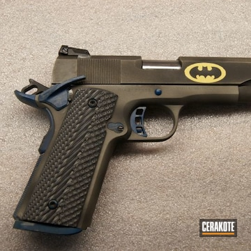 Cerakoted Batman Themed 1911 In H-158, H-144, H-146 And H-169
