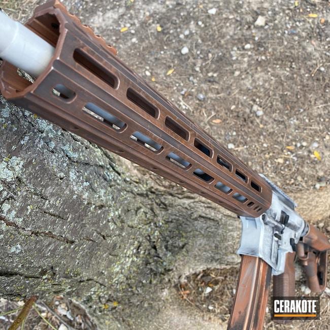 Cerakoted: S.H.O.T,Aero Precision,COPPER H-347,Distressed,FROST H-312,Tactical Rifle