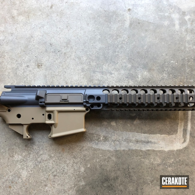Cerakoted: S.H.O.T,Stone Grey H-262,Coyote Tan H-235,AR Project,Upper / Lower / Handguard,O.D. Green H-236,LMT,Tricolor