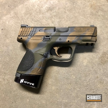 Cerakoted Smith & Wesson M&p Torn Camo In H-262, H-148 And H-236