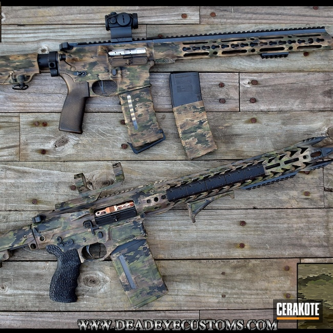 Cerakoted: S.H.O.T,Desert Sage H-247,MAGPUL® FLAT DARK EARTH H-267,MultiCam,Graphite Black H-146,TROY® COYOTE TAN H-268,Tactical Rifle,A-TACS AU,Mil Spec Green H-264