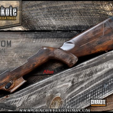 Cerakoted Distressed Wood Stock Mimic