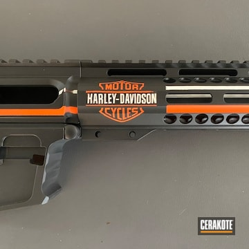 Cerakoted Harley Davidson Themed Ar Pistol