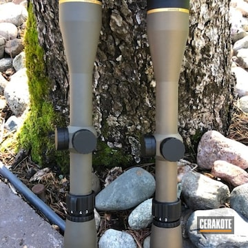 Cerakoted Leupold Scopes In H-148 And H-226