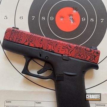 Cerakoted Glock 43x Damascus In H-146 And H-167
