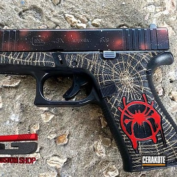 Cerakoted Spiderman Frame With A Cosmic Red Slide