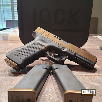 Cerakoted 9mm Glock 17 In H-146 And Mc-156