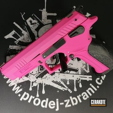 Cerakoted 9mm Handgun In H-141