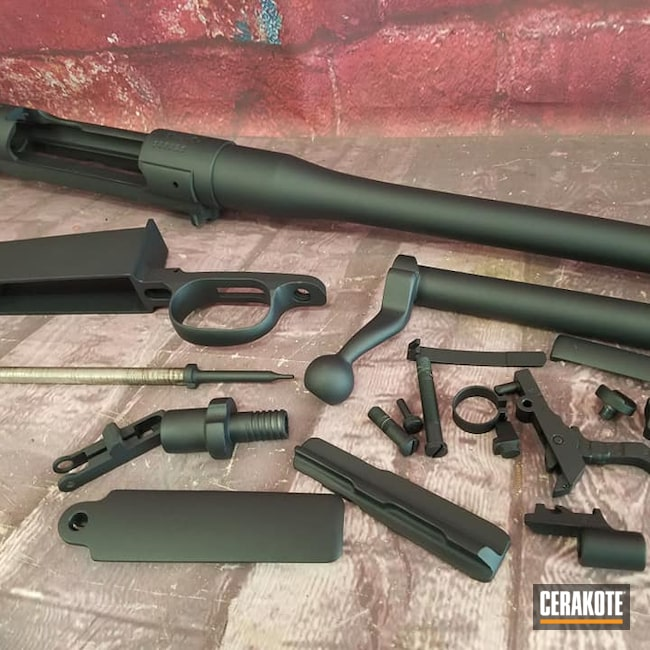 Cerakoted: S.H.O.T,Rifle,Bolt Action Rifle,Winchester,1917,MAGPUL® STEALTH GREY H-188,Magpul Stealth Grey,Gun Parts