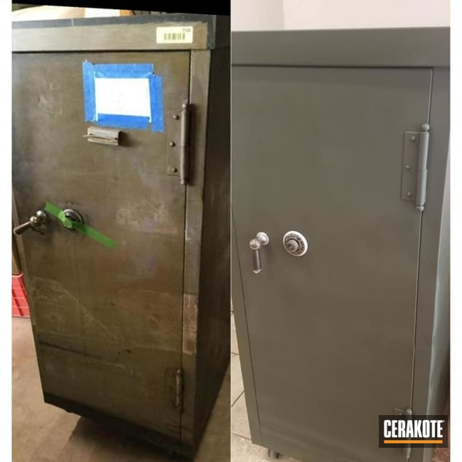 Cerakoted Refinished Gun Safe In C-241