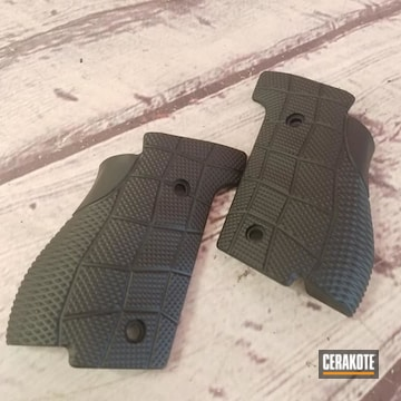 Cerakoted Refinished Pistol Grips In H-146