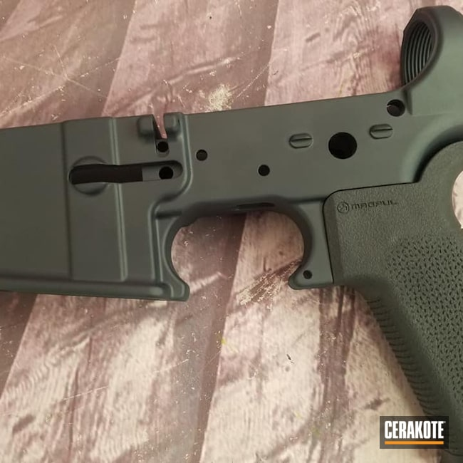 Cerakoted: S.H.O.T,MAGPUL® STEALTH GREY H-188,Lower,AR Project,Gun Parts,AR Build,AR15 Lower