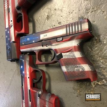 Cerakoted American Flag Themed Handguns