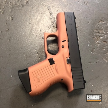 Cerakoted Two Toned Glock 43x In H-347, H-297 And H-255