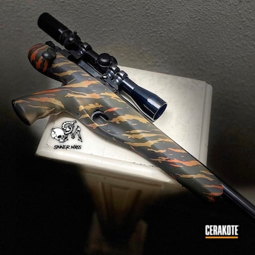 Cerakoted Remington Xp-100 Rifle Tiger Stripe Camo