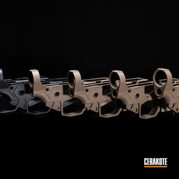 Cerakoted Ar-15 Lower Receivers In H-188 And H-267