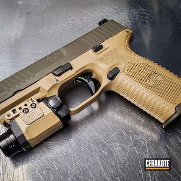 Cerakoted 9mm Fn Handgun In H-187, H-267, H-344 And H-236