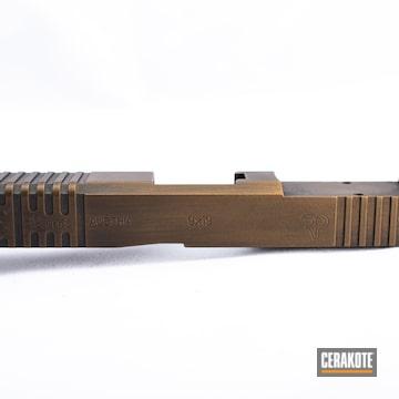 Cerakoted Glock 19 Slide In H-146 And H-148