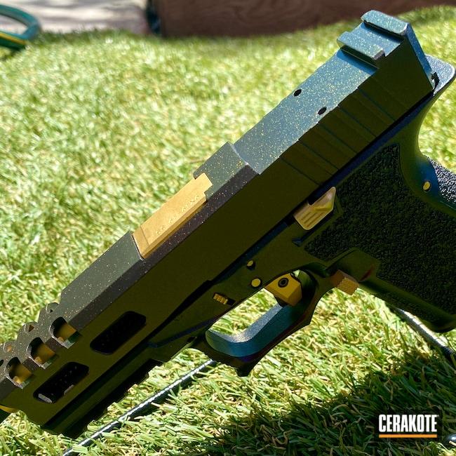 Cerakoted: S.H.O.T,Glock 19,9mm,Custom,Graphite Black H-146,MATTE CERAMIC CLEAR MC-161,Pistol,Glock,GunCandy,Handgun