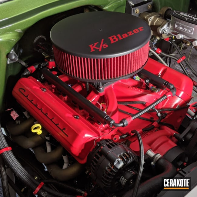 Cerakoted: AN Fittings,Exhaust,Burnt Bronze C-148,More Than Guns,Headers,Engine,Valve Covers,Intake,Automotive,STOPLIGHT RED C-143,BLACK VELVET C-7300
