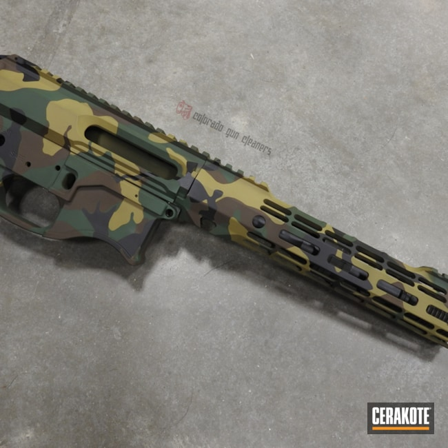 Cerakoted M81 Woodland Camo In H-200, H-146, H-8000 And H-342
