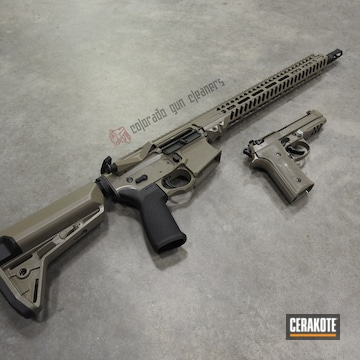 Cerakoted Matching Beretta And Ar-15 Rifle In E-150