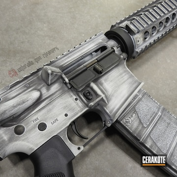 Cerakoted Distressed Ar-15 In H-146 And H-297