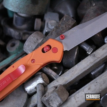 Cerakoted Refinished Benchmade Knife In H-309, H-167 And H-219