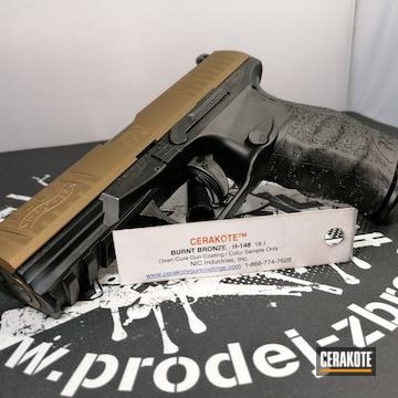 Cerakoted Walther Handgun In H-148
