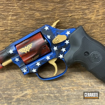 Cerakoted Wonder Woman .38 Revolver In H-171 And H-216