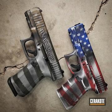 Cerakoted American Flag Themed Glocks