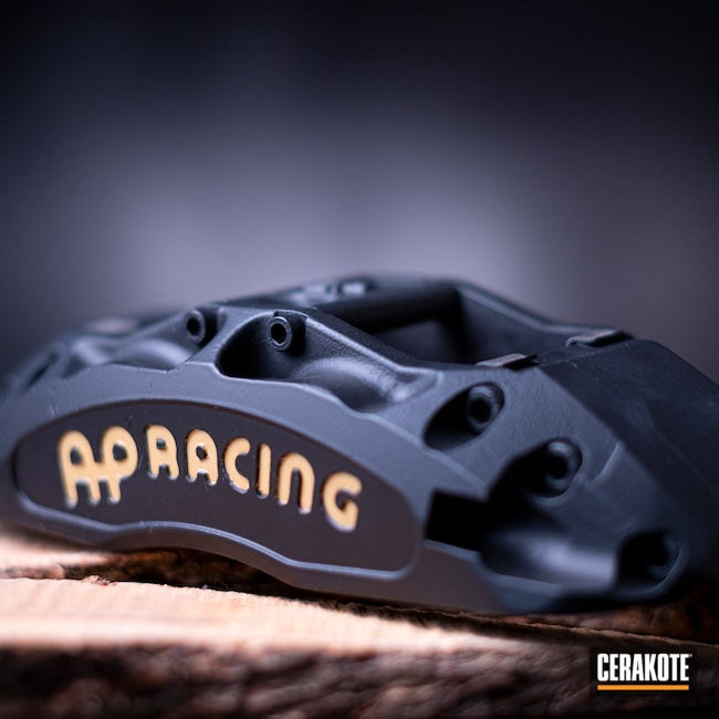 Cerakoted: CERAKOTE GLACIER GOLD C-7800,AP Racing,Brake Calipers,More Than Guns,Automotive,CERAKOTE GLACIER BLACK C-7600