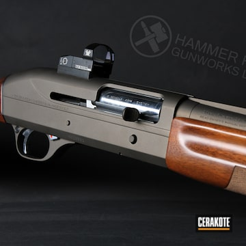 Benelli Shotgun Coated In Midnight Bronze