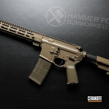 Ar-15 Cerakoted Using Coyote M17 Tan And Fde