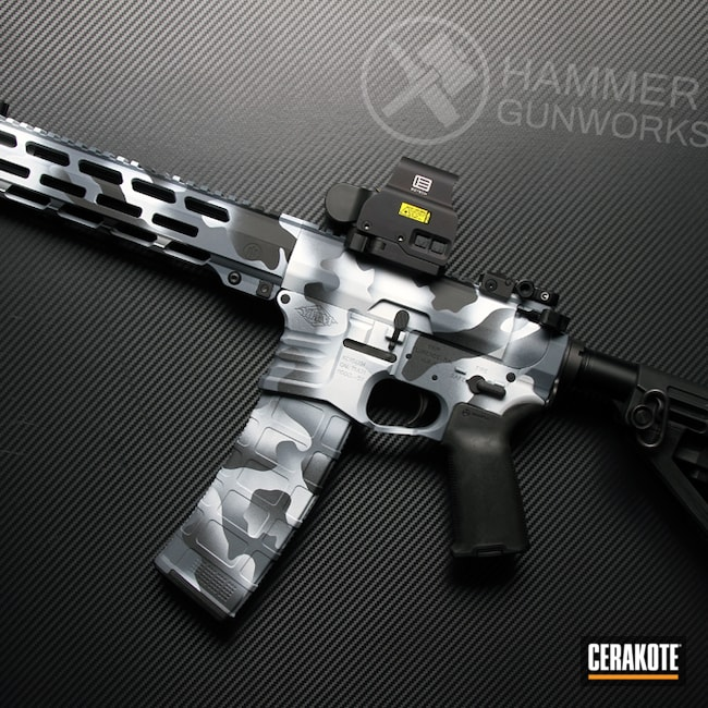 Cerakoted: S.H.O.T,AR Pistol,Snow White H-136,YHM,Graphite Black H-146,Yankee Hill,Urban Camo,Snow Camo,MULTICAM® DARK GREY H-345,AR-15