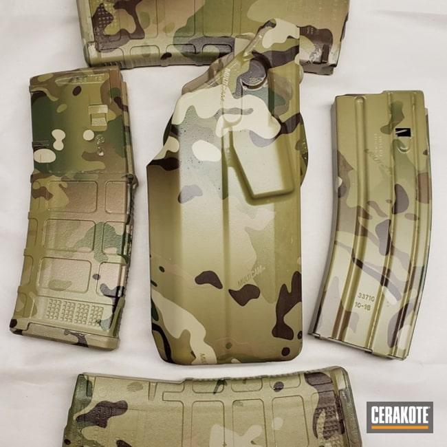 Mag And Holster Coated Using Matte Ceramic Clear